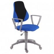 Rostoucí židle Fuxo Suedine modro-černá 7/1 - 008