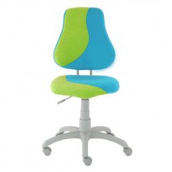 Rosnące krzesełko Alba Fuxo S Line Suedine jasnoniebiesko-zielone 338