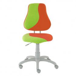 Rosnące krzesełko Alba Fuxo S Line Suedine pomarańczowo-zielone 332