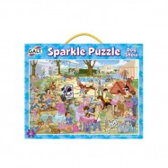 Třpytivé puzzle - psí závody 2*