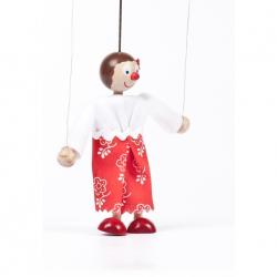 Drevená bábka dievčatko Maruška