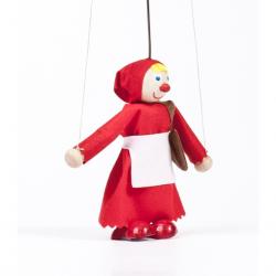 Drevená bábka Červená Karkulka