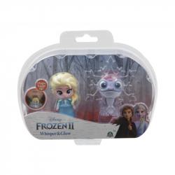 Frozen 2: 2-pack svietiace mini bábika - Elsa Travelling & Fire Spirit