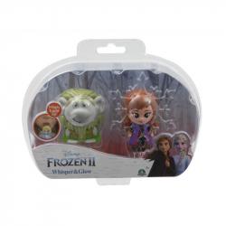 Frozen 2: 2-pack svietiace mini bábika - Pabbie & Anna Travelling