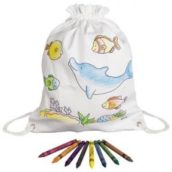 Goki Detský bavlnený vrecúško k vyfarbenie - Morský svet