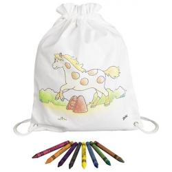 Goki Detský bavlnený vrecúško k vyfarbenie - Koník