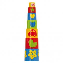 Kolorowa piramida 7 kubeczków