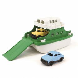 Green Toys Zielono-biały prom z dwoma samochodami