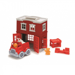 Green Toys Fire Station Playset 8 pieces
