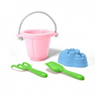Green Toys - Ružový set na piesok
