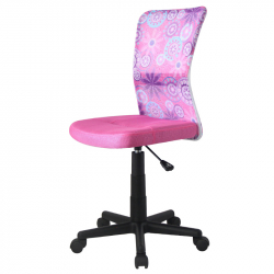 Detská otočná stolička DINGO ružová