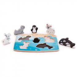 Puzzle na planszy - Zwierzęta polarne