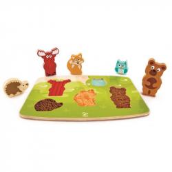 Puzzle na planszy - Zwierzęta leśne