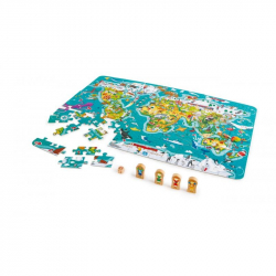 Detské puzzle - Mapa sveta 2 v 1