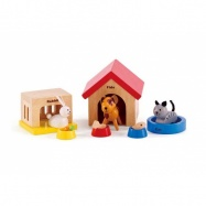 HAPE dřevěné hračky - dřevění domácí mazlíčci 3v1