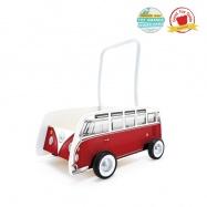 HAPE - Dřevěné chodítko - Autobus T1 WALKER červený