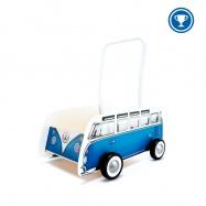 HAPE - Dřevěné chodítko - Autobus T1 WALKER modrý