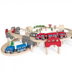 drewniany zestaw kolejowy marki Hape