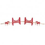 HAPE dřevěná vláčkodráha - Dlouhý červený most