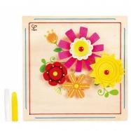 HAPE dřevěné hračky - dřevěná kreativní sada květina