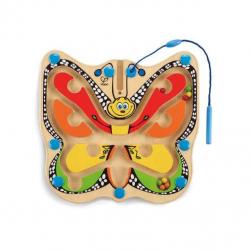 HAPE dřevěné hračky - dřevěný magnetický labyrint motýl