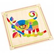 HAPE dřevěné hračky - dřevěná mozaika z písku opice