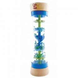 HAPE drevená muzikálná hračka - Dažďová palica modrá
