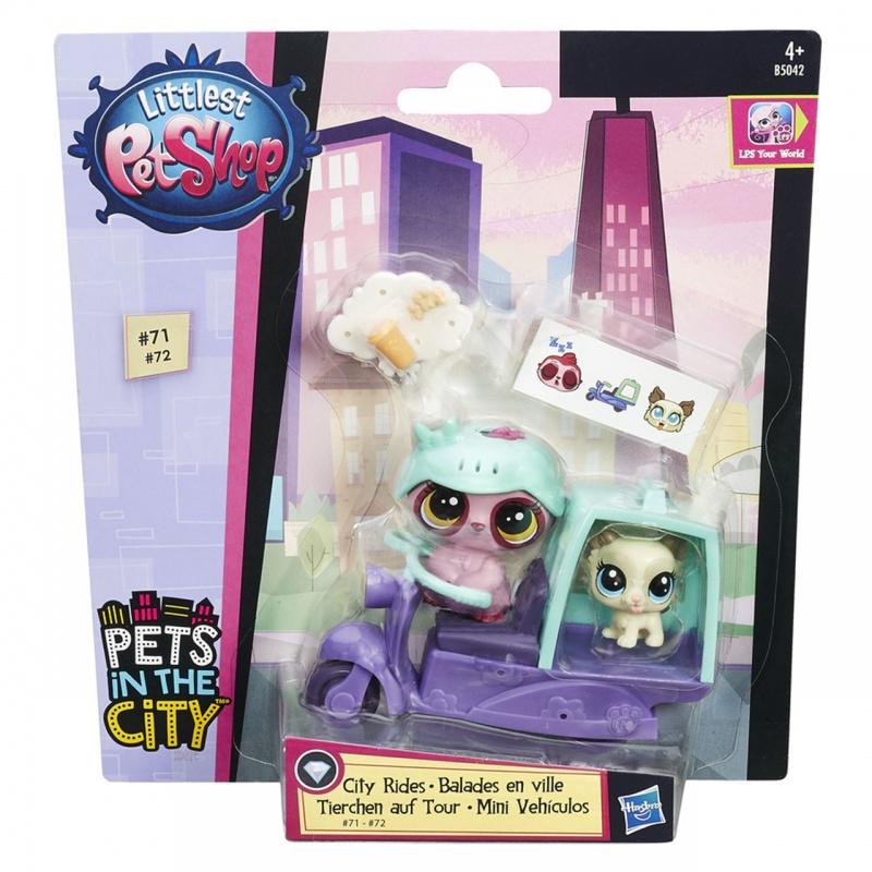 Littlest Pet Shop ZVÍŘÁTKO S KAMARÁDEM A VOZIDLEM ASST