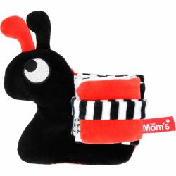 Hencz Toys Edukační/textilní knížečka - hlemýžď, černo-červená