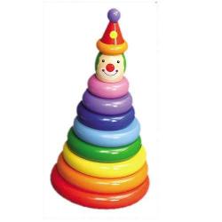 Drevené hračky - Motorické hračky - Navliekanie na tyč klaun