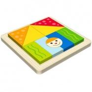 Dřevěné hračky - Vkládací puzzle - Vkládačka - Tvary