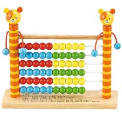 Dřevěné hračky - Školní pomůcky - Dřevěné počítadlo medvídek