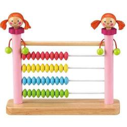 Drevené hračky - Školské pomôcky - drevené počítadlo dievčatko
