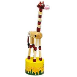 Drevené hračky - Drevené hry - Tancujúci žirafa hnedá