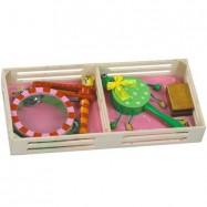 Dřevěné hračky - Dětské hudební nástroje - Sada B