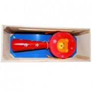 Dřevěné hračky-Dětské hudební nástroje -Bubínek s rukojetí A