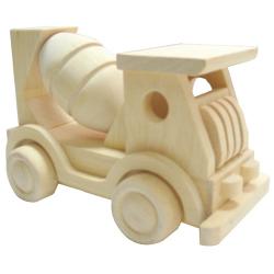 Drevené hračky - Prírodné drevené auto - Miešačka