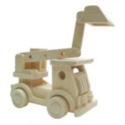 Drevené hračky - Prírodné drevené auto - Bager