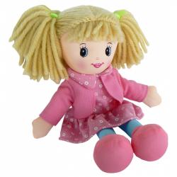 Bábika látková 30 cm - ružová