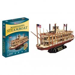 Puzzle 3D Mississippi Steamboat - 142 dílků