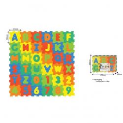 Penové puzzle Čísla a písmená 36 ks