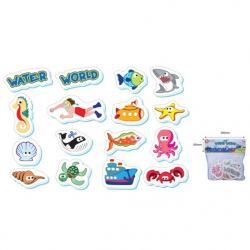 Piankowe zabawki wodne - Wodny świat 16 szt