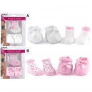 HM Studio Boty a ponožky pro panenky - 2 druhy