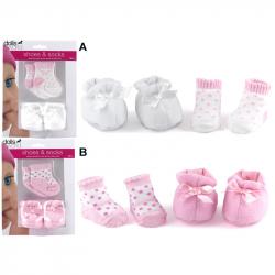 HM Studio Topánky a ponožky pre bábiky – 2 druhy