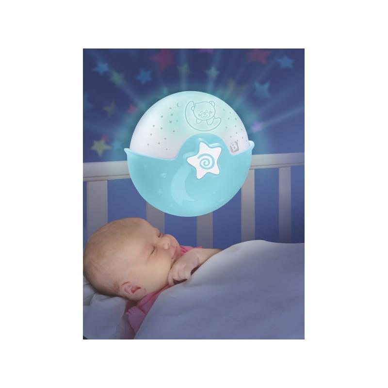 Nočná lampička s projekciou modrá