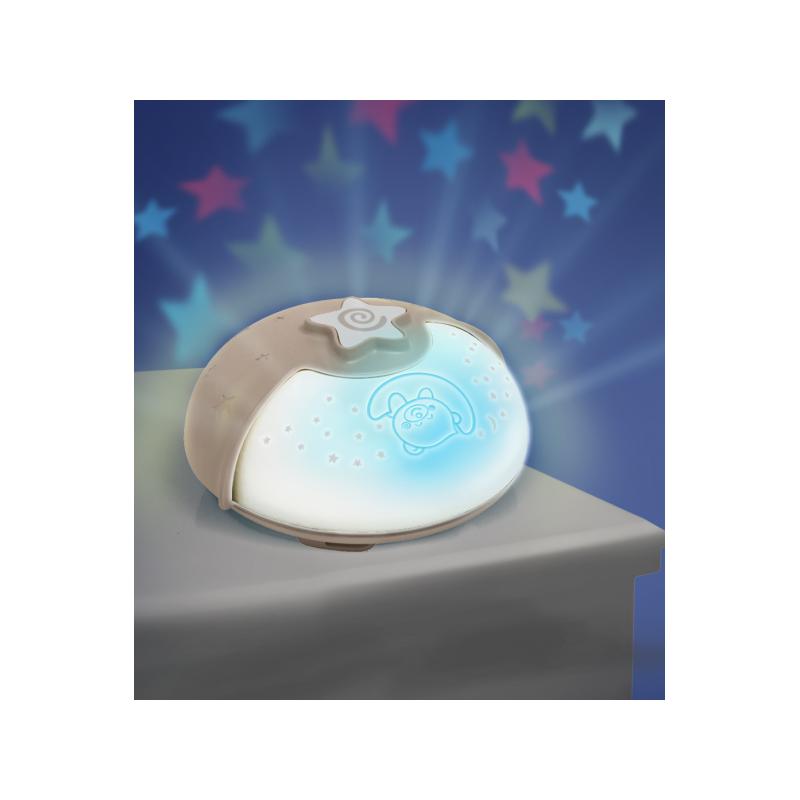 Nočná lampička s projekciou ecru