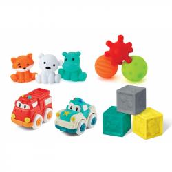 Sada senzorických hračiek s autíčkami a zvieratkami