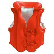nafukovacia vesta plávacie DELUXE červená, 3-6 rokov