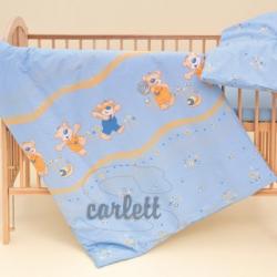 Komplet poszewek na pościel do łóżeczka Jurek - niebieski