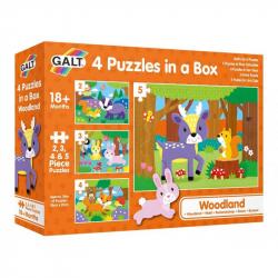 4 Puzzle v krabici - V lese